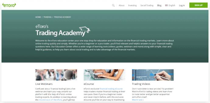 eToro Trading Academy Platform
