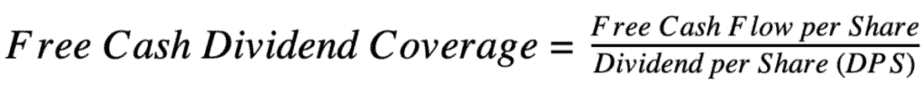 Free Cash Dividend Coverage Equation